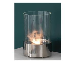 Bio-ethanol tafelhaardje Warm, zilver, 23 x 38 cm