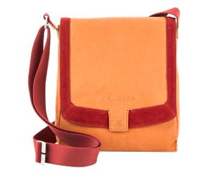 Schoudertas Isa, oranje/rood, H 31 cm