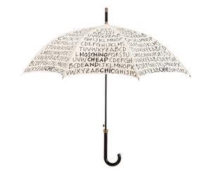 Paraplu Alphabet, zwart/wit,  Ø 104 cm