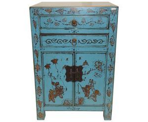 Chinees kastje, blauw en goud