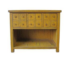 Apothekerskast, geel, 108x53x93 cm