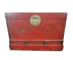 Kist, rood, 78x45x58 cm