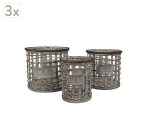 Set van 3 kaarsenhouders Anno 1926