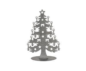 Set van 12 metalen kerstbomen, medium