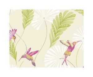 Behang Hummingbird, paars