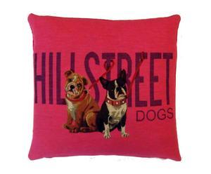 Kussen Hillstreet dogs, roze, 50 x 50 cm
