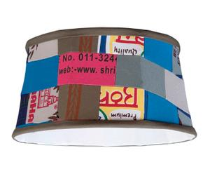 Hanglamp rijstzakkenprint, diameter 35 cm