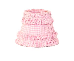 Klem lampenkapje, roze blokjes