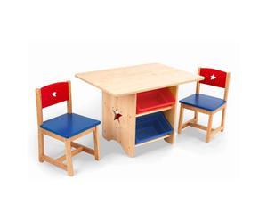 Tafel en 2 stoelen met sterren
