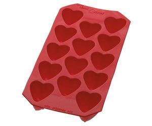IJsklontjesvorm Hart, rood