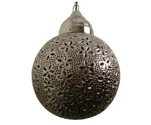 Hanging lamp round flower ASMITA nickel+orange