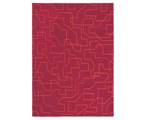 Vloerkleed, fuchsiarood, 160 x 230 cm, wol