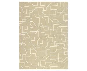 Vloerkleed  beige, 160 x 230 cm, wol