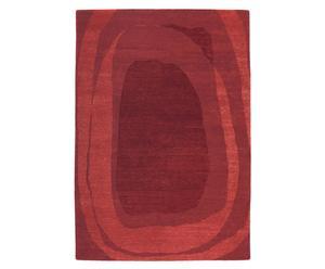 Vloerkleed, rood, 120 x 180 cm, wol