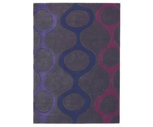 Vloerkleed, paars, 200 x 300 cm, acryl