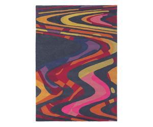 Vloerkleed, taupe en rood, 160 x 230 cm, wol