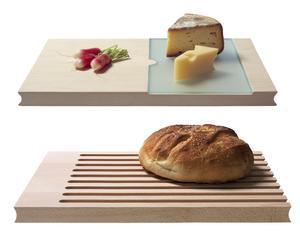 Set van kaasplank en broodsnijplank