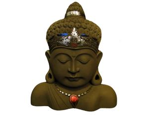 Boeddha bruin met kleur II