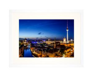 Ingelijste foto Berlin at Night, 30 x 40 cm