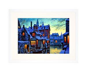 Ingelijste foto Brugge Winter, 30 x 40 cm