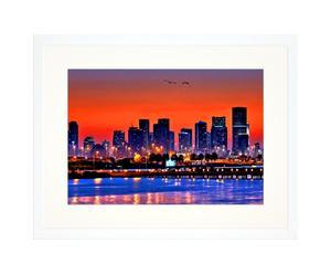 Ingelijste foto Miami night, 30 x 40 cm
