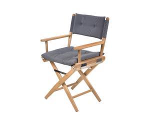 Regisseursstoel Cannes, marine, grijs zwart