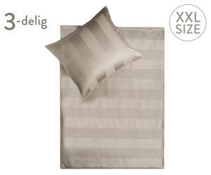 Set bedlinnen Lars, 3-delig, taupe, 240 x 200/220 cm