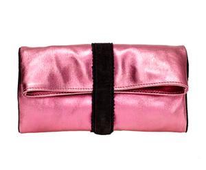 Clutch New York, roze, L 25 cm