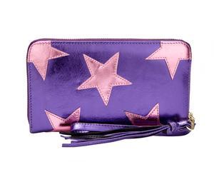 Portemonnee Star, paars, L 20 cm
