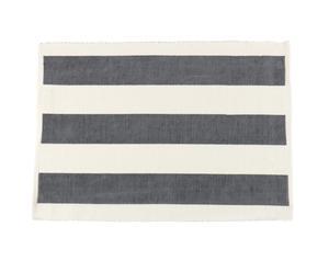 Set van 6 placemats Stripe, donkergrijs, 48 x 33 cm
