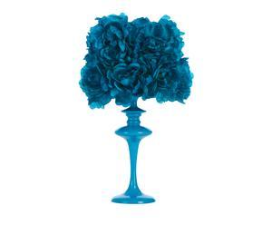 Tafellamp Bloom too, blauw, H 42 cm