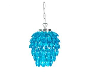 Hanglamp Josephine, blauw, H 20,8 cm