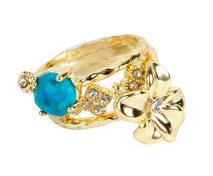 Ringen Big Flower, handgemaakt, goud