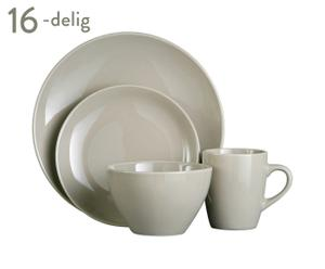 Servies Oyster, 16-delig