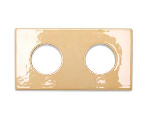 Dubbele stopcontact-bedekker Pastel, abrikoos, 15,5 x 8,2 cm