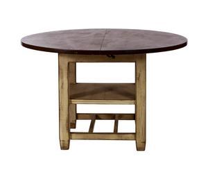 Eettafel Brocante, bruin, diameter 120 cm