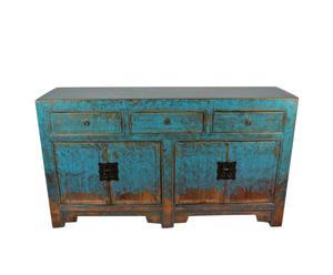 Chinees dressoir Liang, lichtblauw, L 145 cm