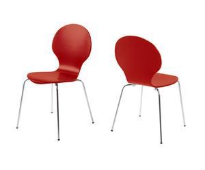 Set van 2 stoelen Butterfly, rood, L 50 cm