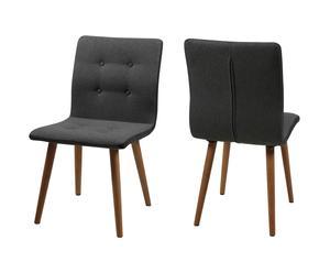 Set van 2 stoelen Seater knot, grijs, L 55 cm