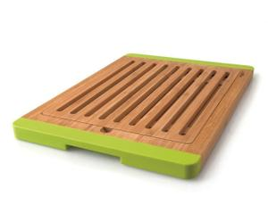 Broodplank Bamboe, naturel/groen, 38 x 38 cm