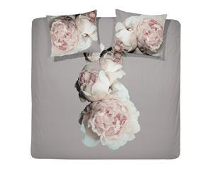 2-Persoons Damai Dekbedovertrekset bio-satijn  Rose, 240 x 220 cm, Taupe/roze