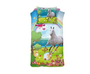 1-Persoons DBO Damai Horse katoen, 140 x 200/220 cm