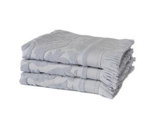 Set van 3 luxe baddoeken Elegance, lichtblauw, 60 x 110 cm