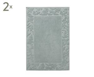 Set van 2 luxe badmatten Elegance, mintgroen, 50 x 75 cm