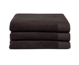 Set van 3 luxe baddoeken Harmony, donkergrijs, 60 x 110 cm