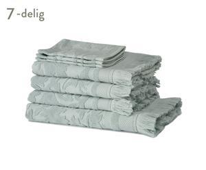 Luxe 7-delige badset Elegance, mintgroen