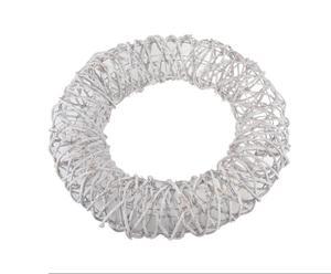 Kerstkrans XMAS, grijs, diameter 70 cm