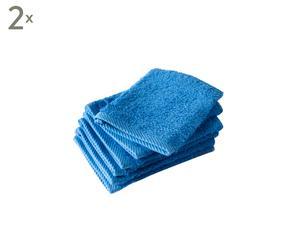 Set van 12 washandjes Directoire Blue, 15 x 21 cm