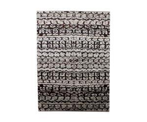 Handgemaakt tapijt Ikat Black Grey I, 246 X 175 cm