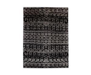 Handgemaakt tapijt Ikat Black Grey II, 312 X 210 cm